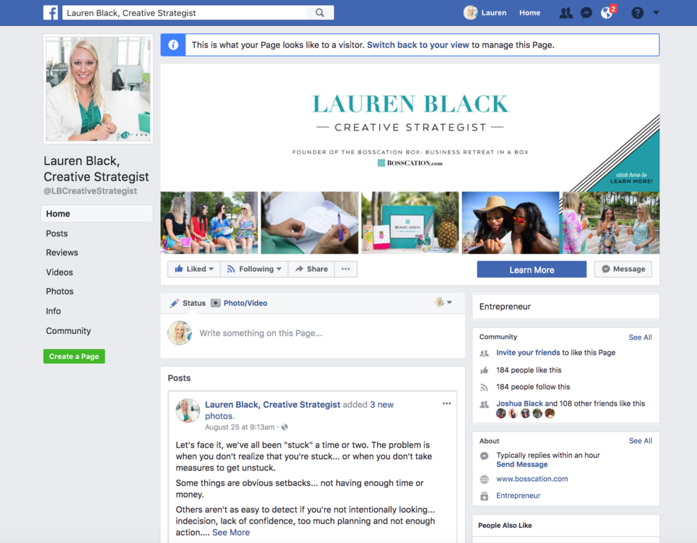 Lauren Black Creative Strategist Facebook