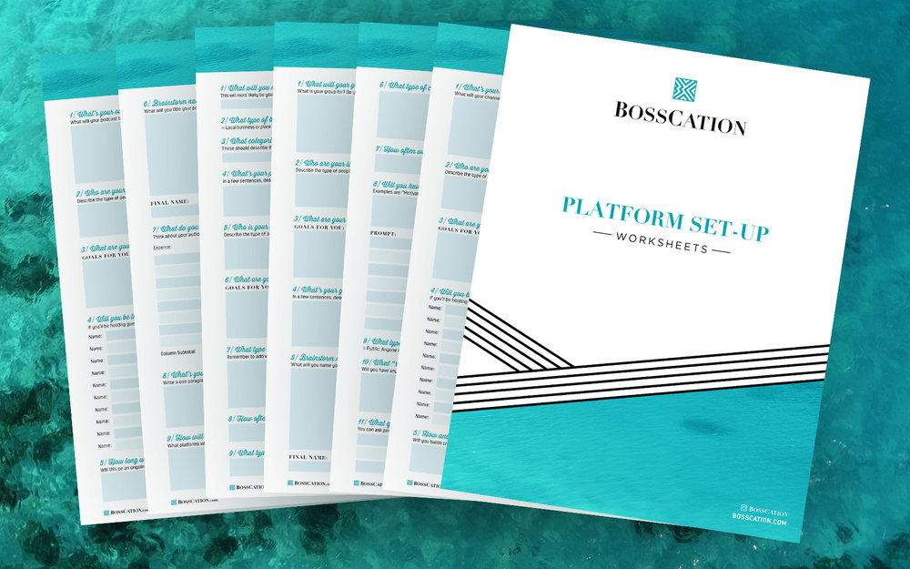 Not on a certain platform yet? Plan it out! - Ready to start a podcast, YouTube channel, Facebook group, etc? Use these planning sheets to map out your new platform with ease!