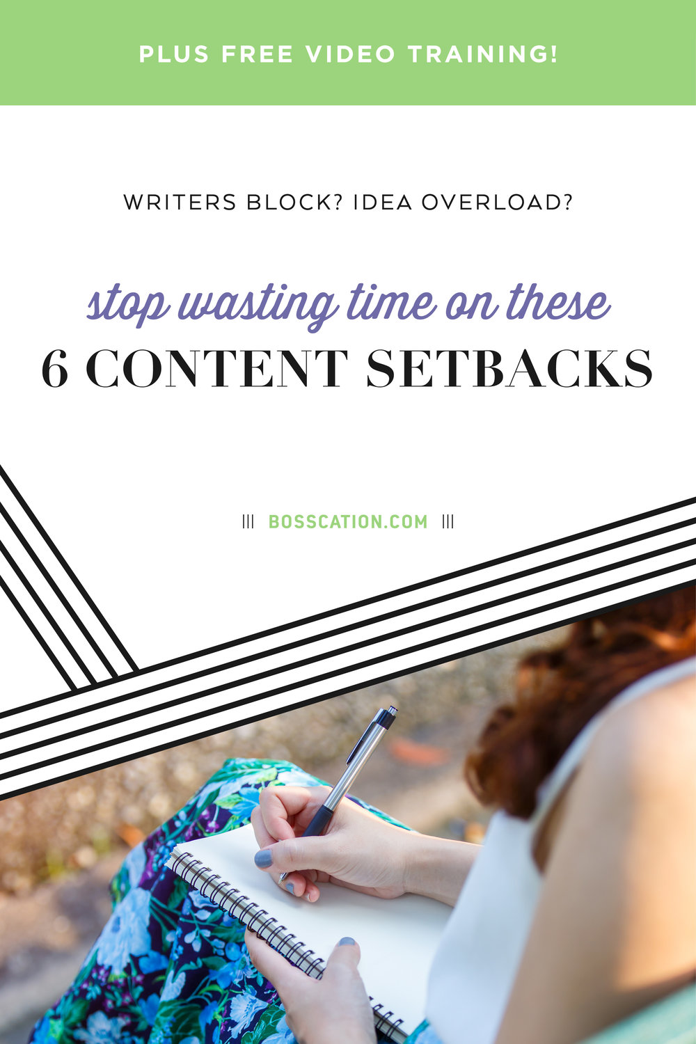 Writers block? Idea overload? What content setbacks are keeping you from creating blogs, video, social media posts and email newsletters? Learn how to determine your marketing setbacks so you can write or film more efficiently and faster!