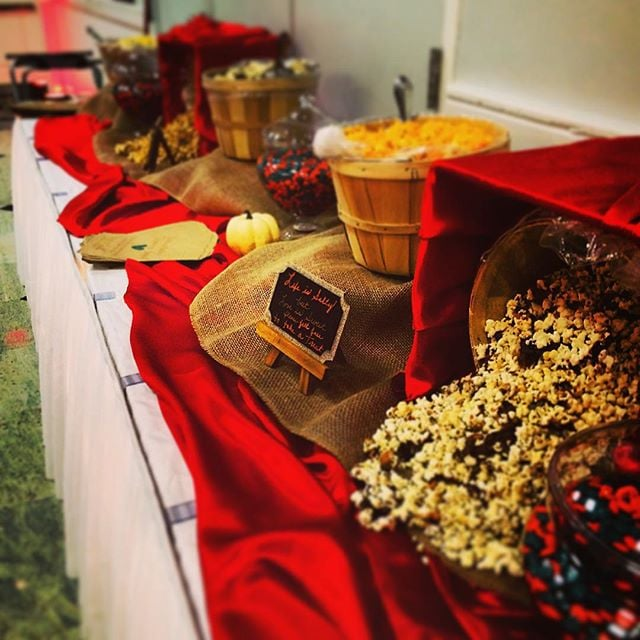 Who doesn't love a popcorn and candy station? #crystalroombutler #popcornstation #pittsburghweddings