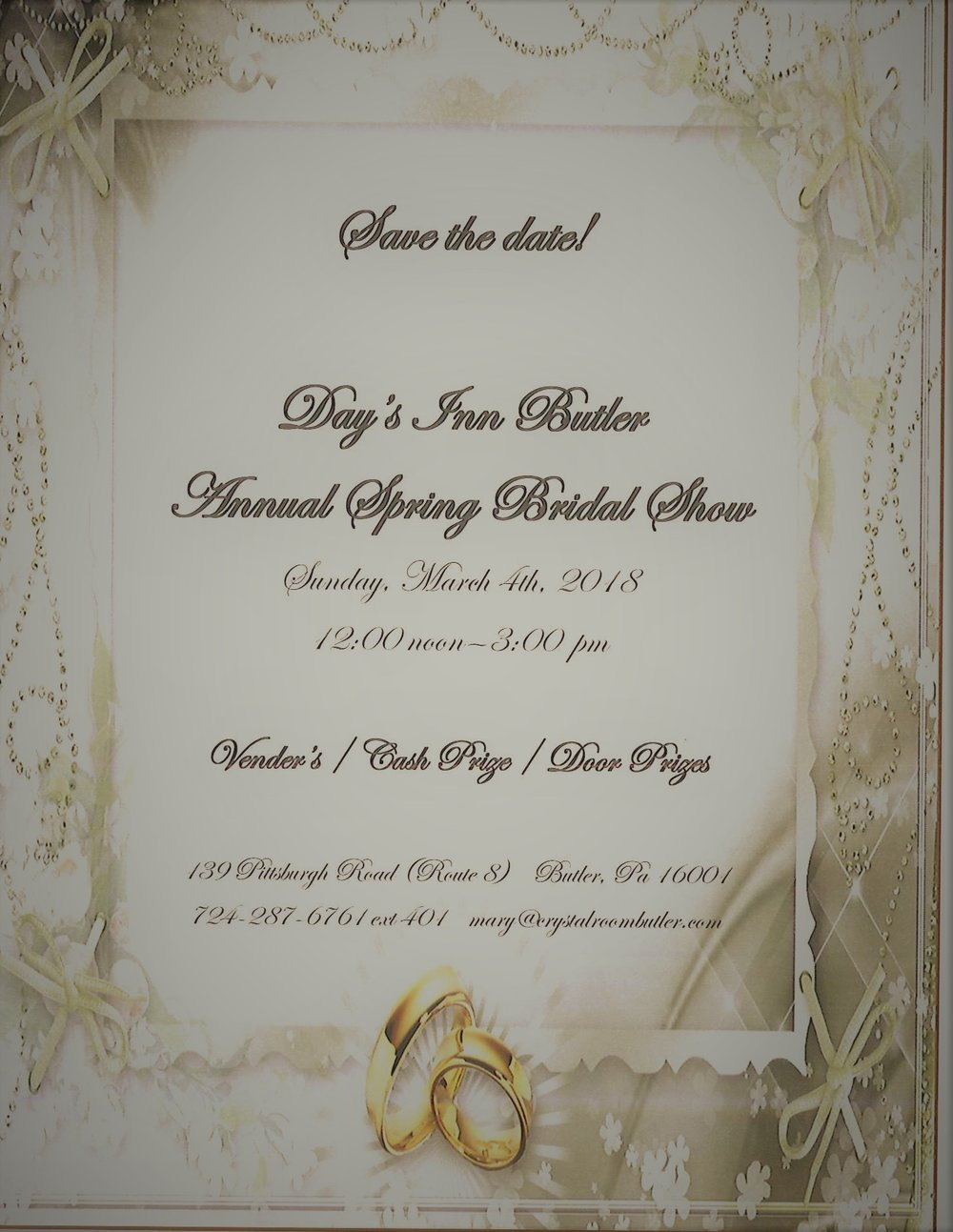 Save The Date... Annual Spring Bridal Show