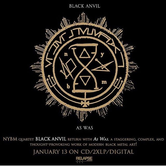 """Pick up the new @blackanvil, """"As Was"""" available January 13 from @relapserecords."""