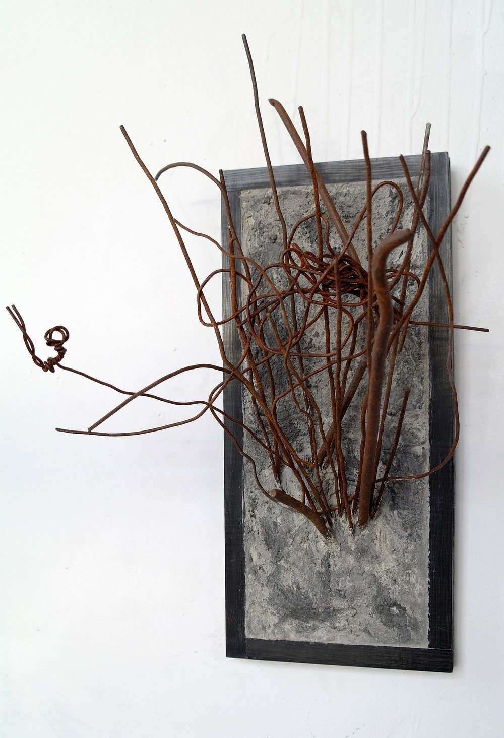 "Title: Last One  Dimensions: 19.75""x12.75""x9.25""  Materials: Concrete, Colored Concrete, Steel, Wood  Year: 2014"