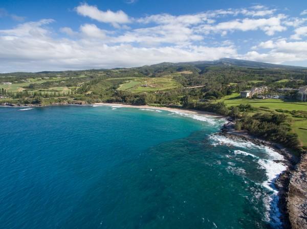 One picture: Ritz Carlton, Flemming Beach, Mahana Trail, Kapalua Bay, and Plantation Golf Courses – Mahana Ridge