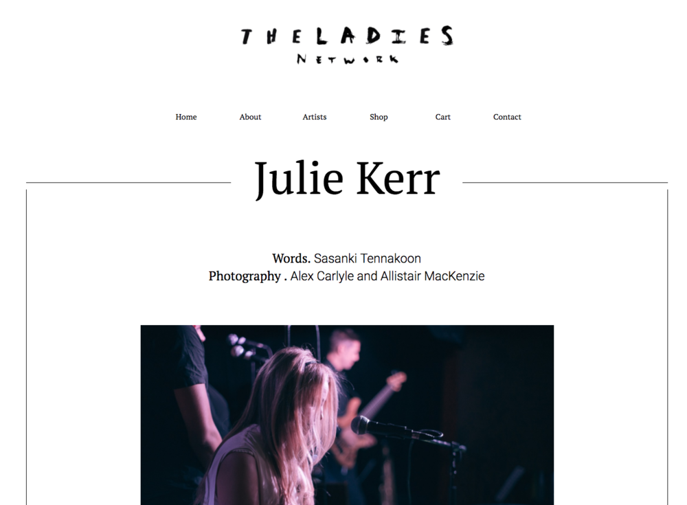 February 2017, Julie Kerr on the Ladies Network