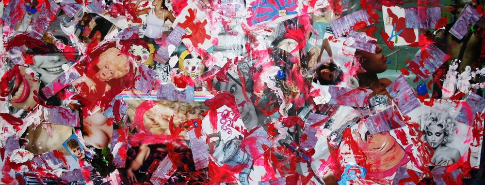 peep show  2009 Mixed media collage