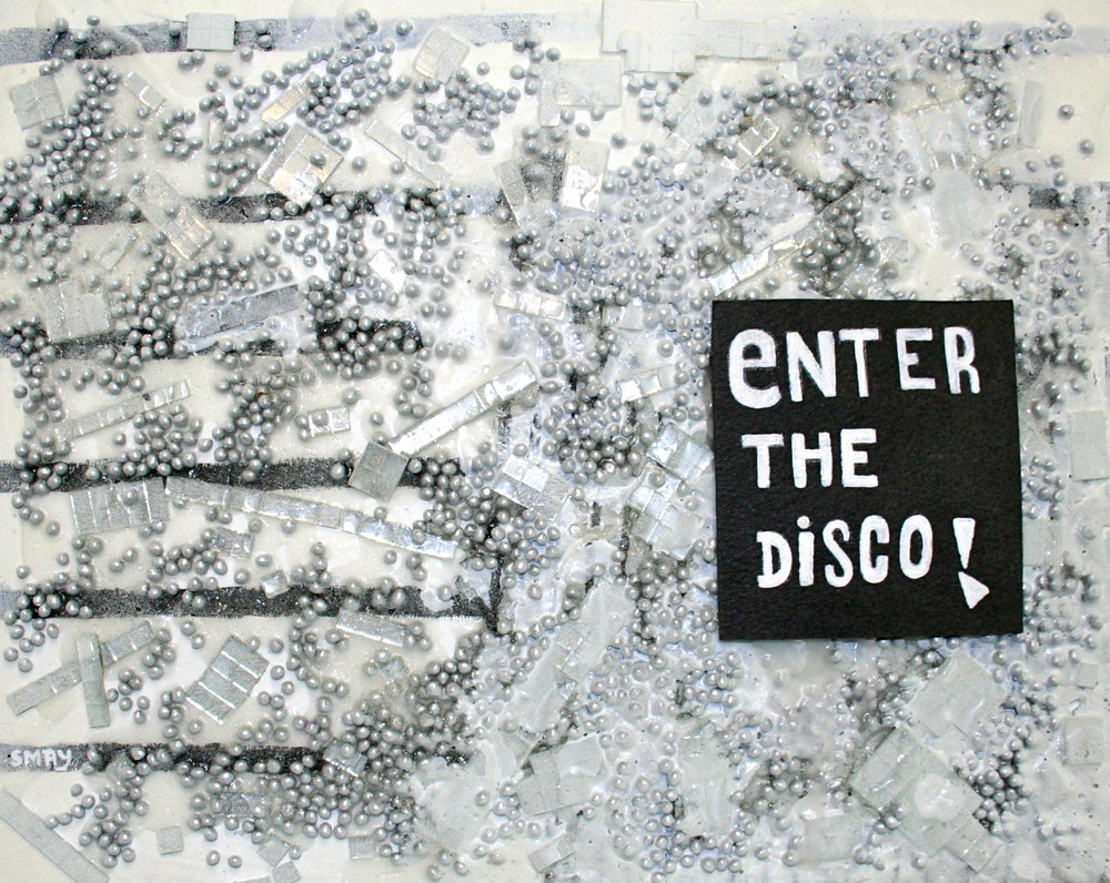 ENTER THE DISCO  2012 Mixed media on canvas   30 x 24cm