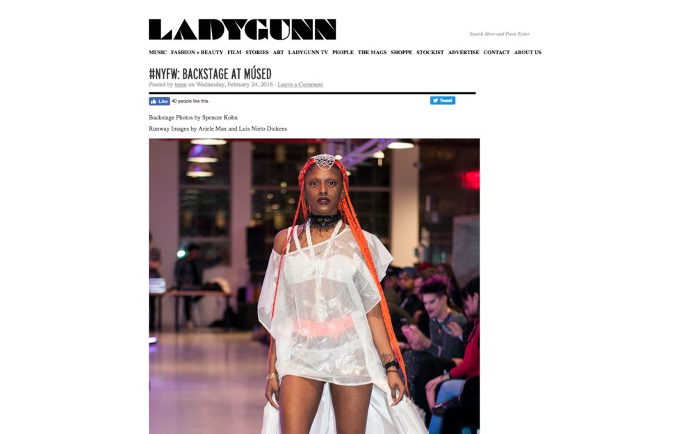 #NYFW: BACKSTAGE AT MÚSED - LADYGUNN