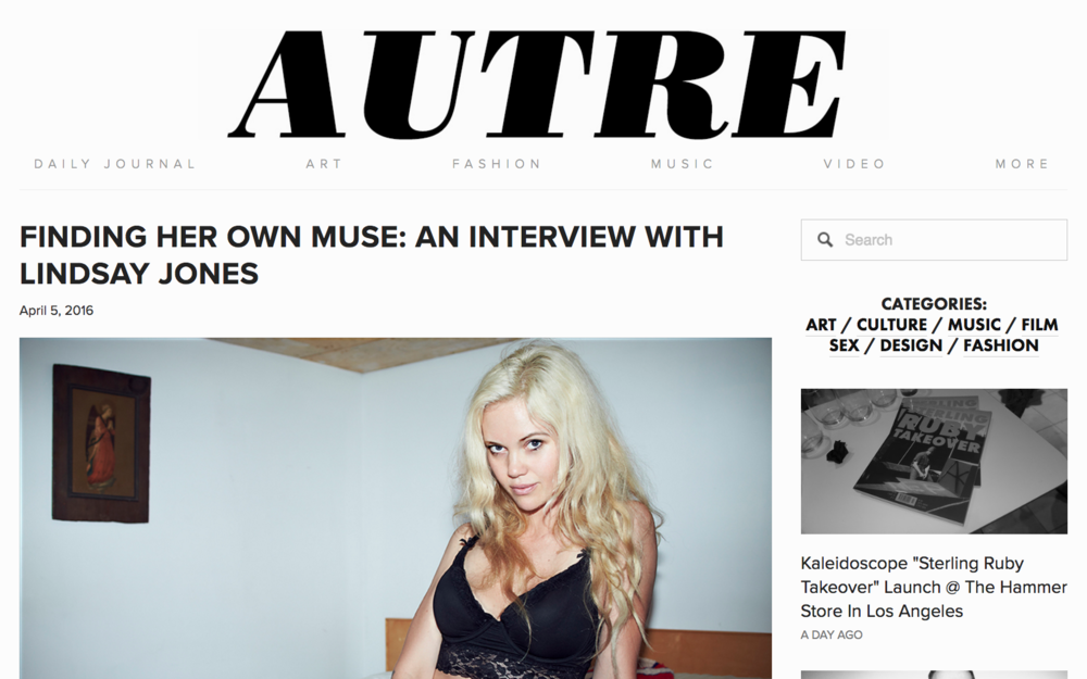 FINDING HER OWN MUSE: AN INTERVIEW WITH LINDSAY JONES - AUTRE MAGAZINE