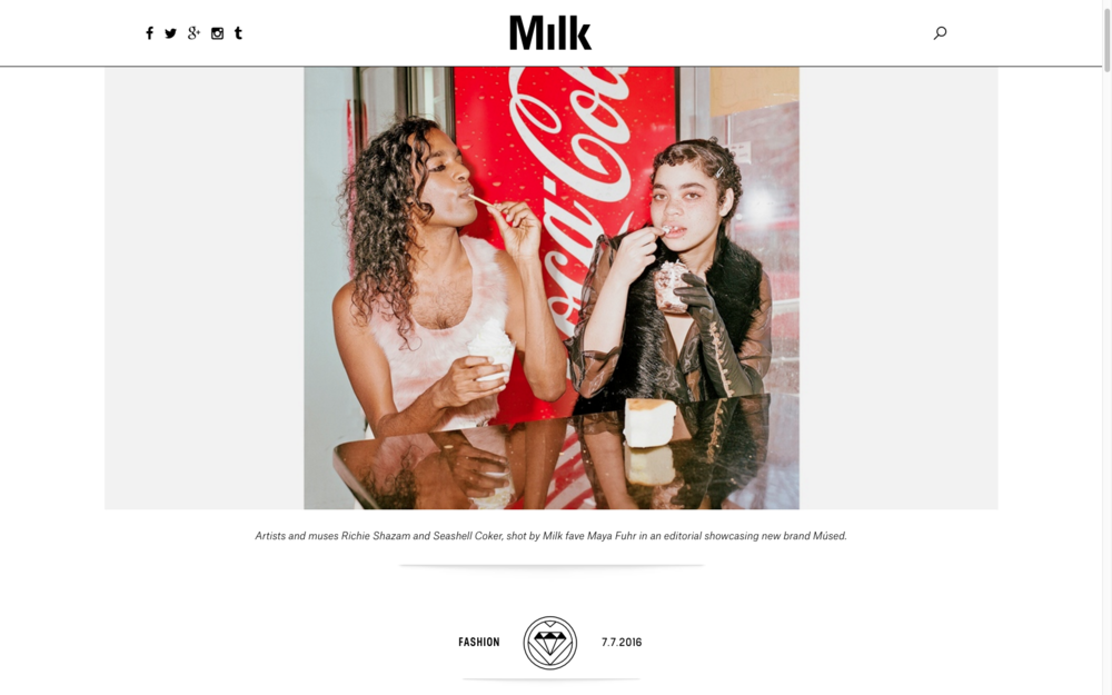 'SUMMER REGALIA,' AN EDITORIAL FEATURING YOUR FAVES FROM INSTAGRAM - MILK