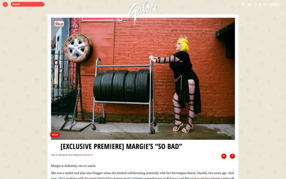 "[Exclusive Premiere] Margie's ""So Bad"" - Galore Mag"
