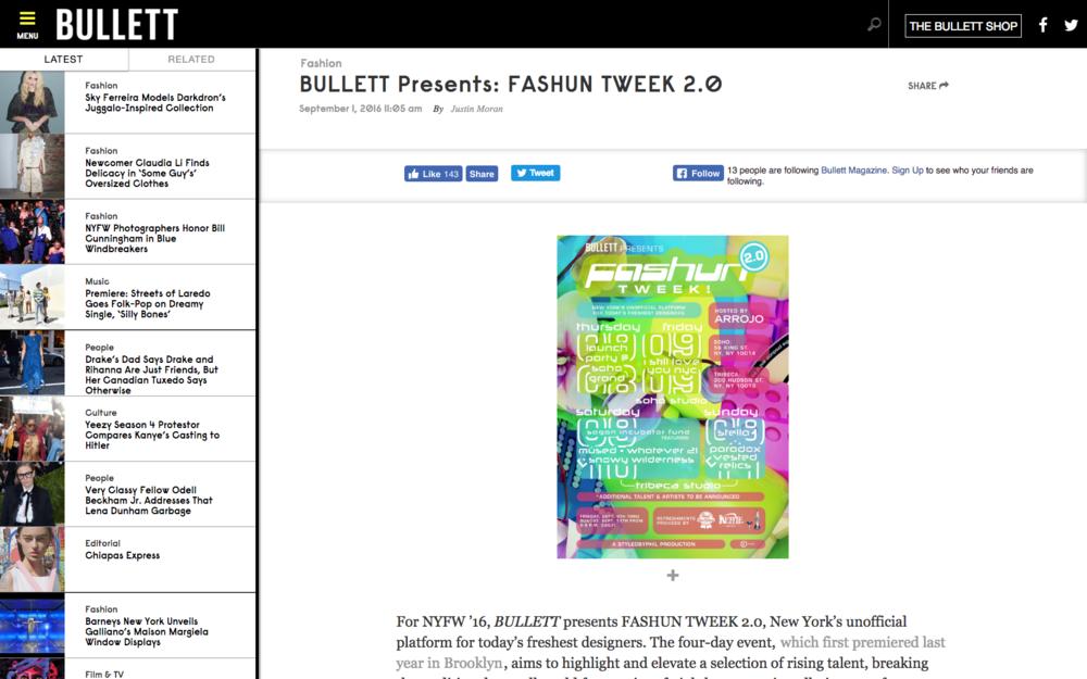 Bullett Presents: Fashun Tweek 2.0 - Bullett Magazine