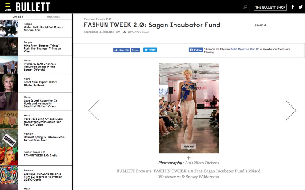 FASHUN TWEEK 2.0: Sagan Incubator Fund - Bullett Magazine