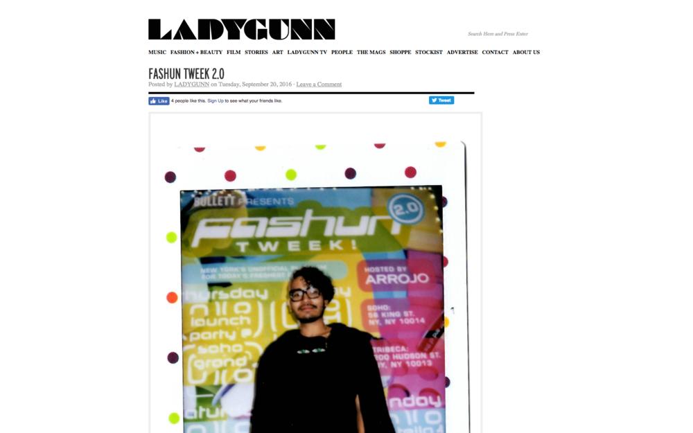 FASHUN TWEEK 2.0 - LADYGUNN