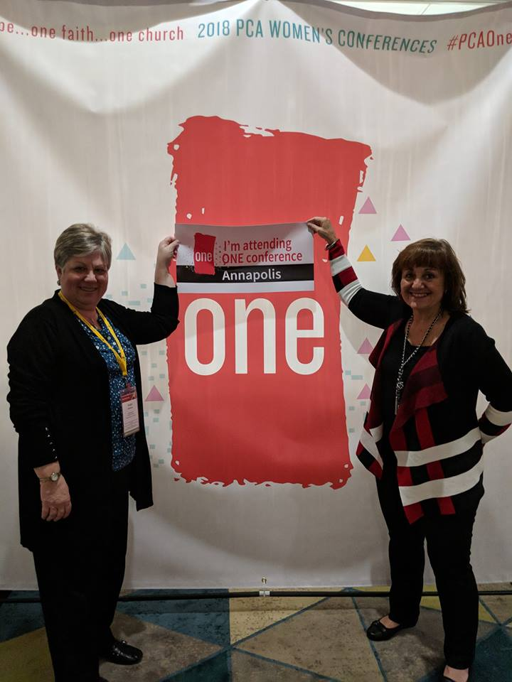 "Vickie Robinson & Jane Anne Wilson are going to  the  2018 PCA Women's Conference ""One"" in Annapoliis, MD  on September 28-19? Join Them!"