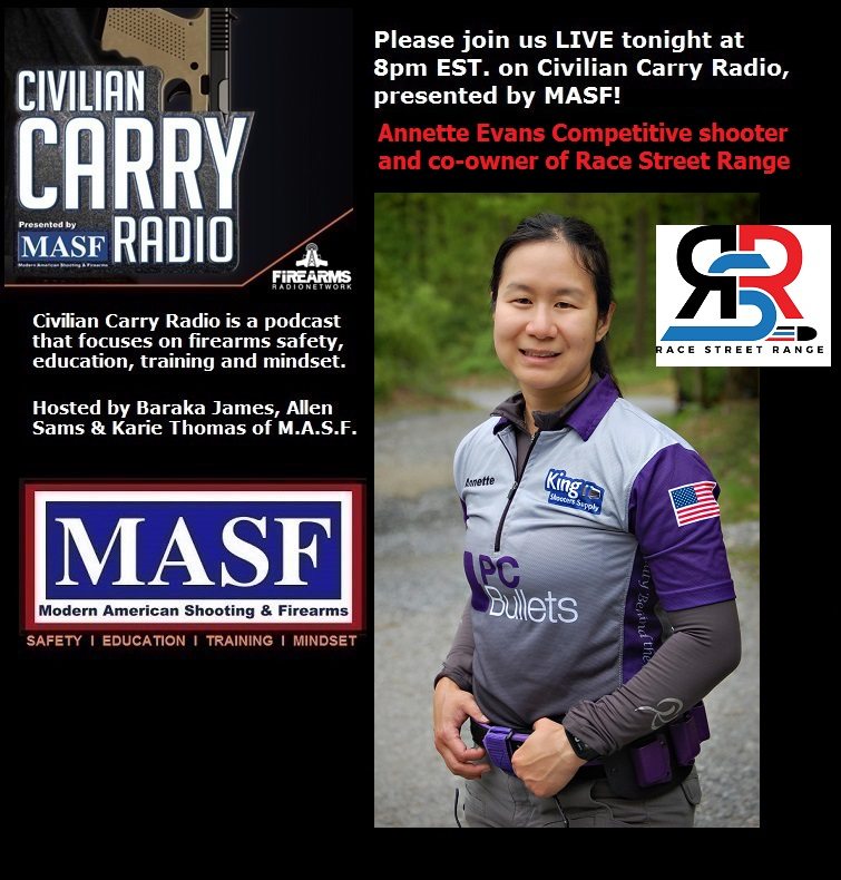 Civilian Carry Radio 032 - Annette Evans Competitive shooter and co-owner of Race Street Range.jpg