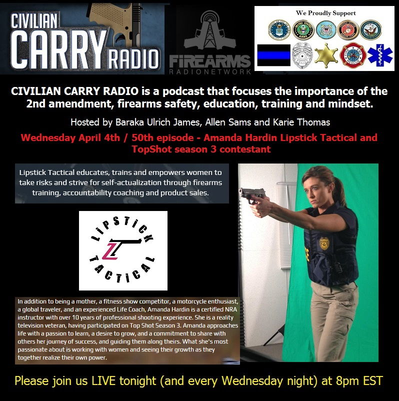 Civilian Carry Radio 050 - Amanda Hardin of Lipstick Tactical and TopShot season 3 contestant.jpg