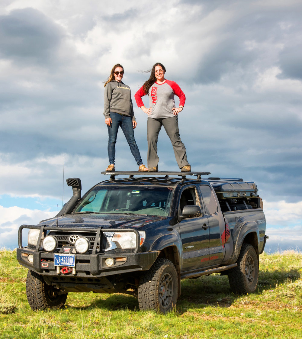 Elise and Mercedes on top of Tacoma.jpg