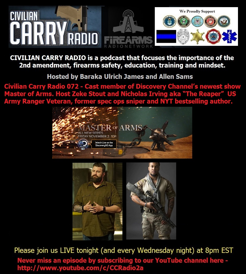 Civilian Carry Radio 072 - Cast of Master of Arms.jpg