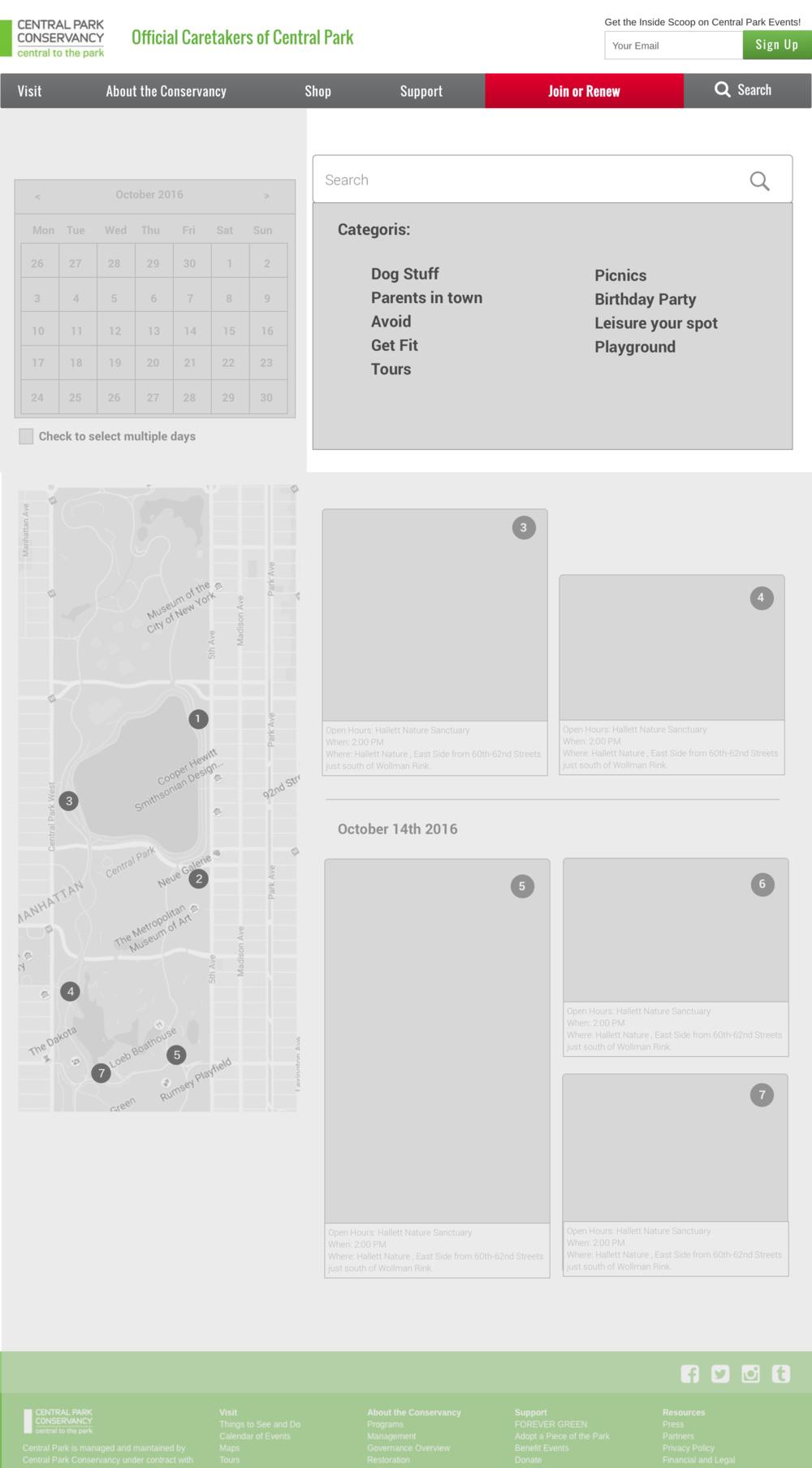 SMART FILTER   To find events based on categories