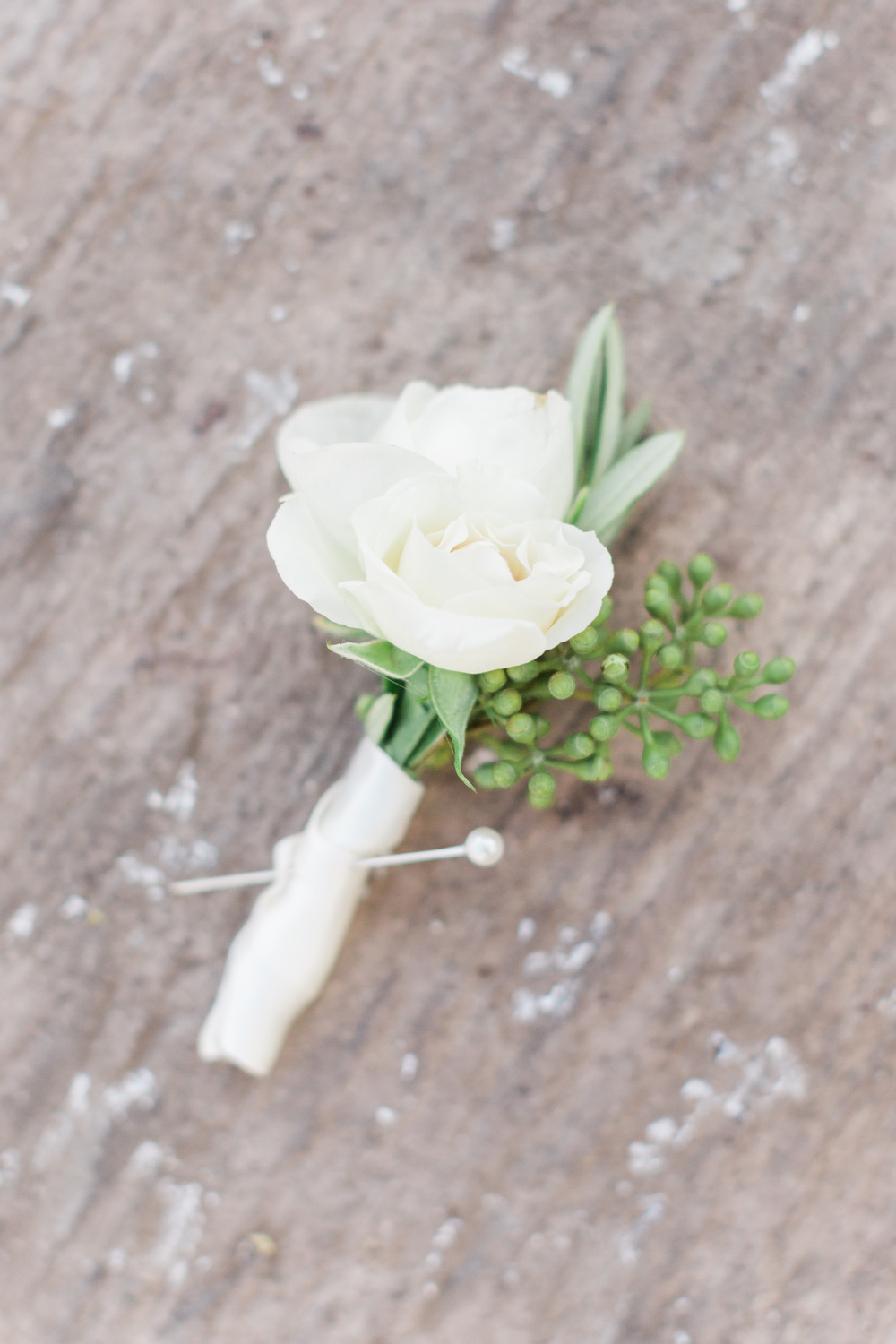 Simple White Boutonniere by Posh Petals | Tubac Golf Resort Wedding | Tubac Wedding Photographers | See more at BetsyandJohn.com