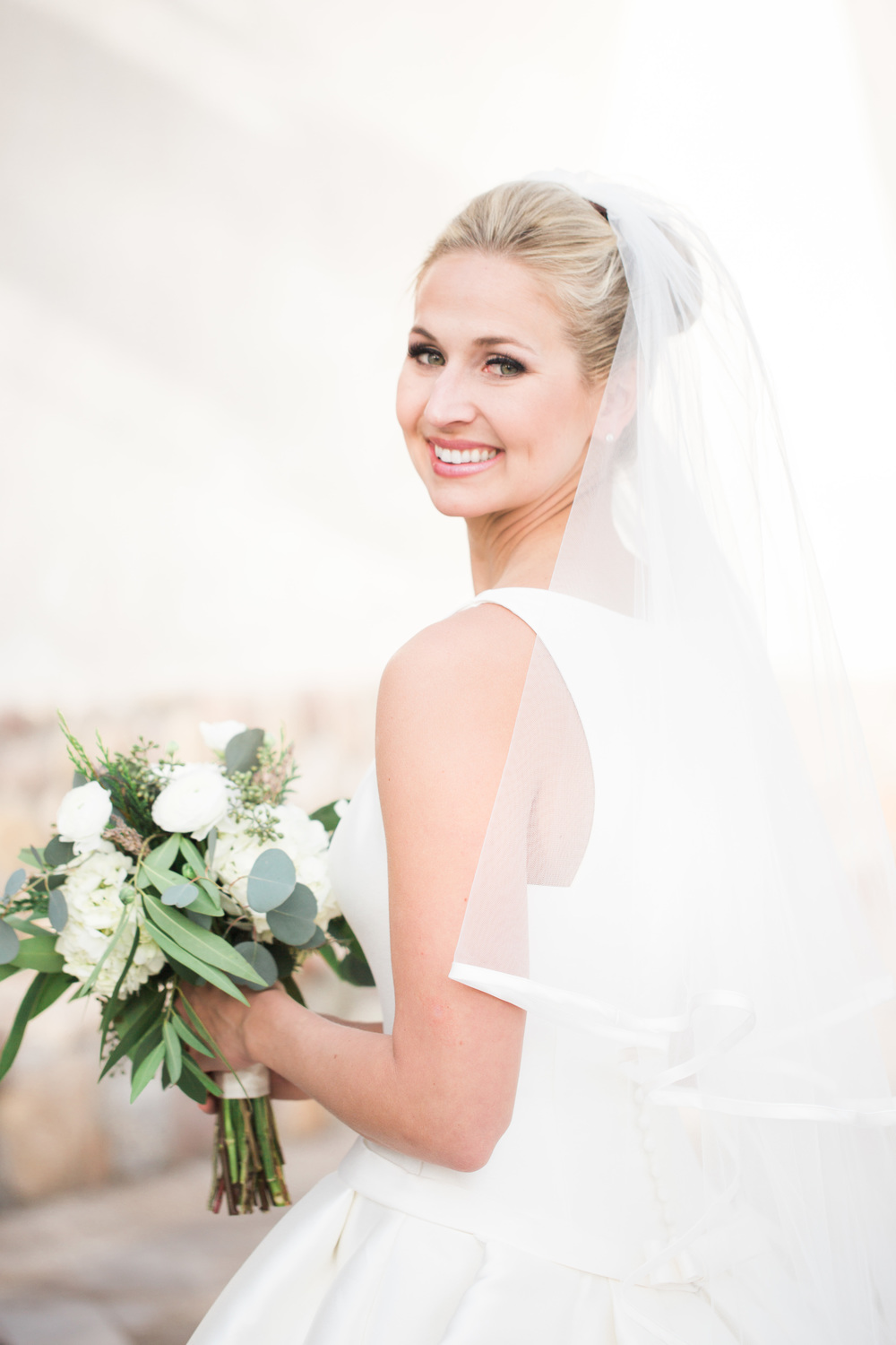 Gorgeous Bride in a gorgeous Pronovias gown
