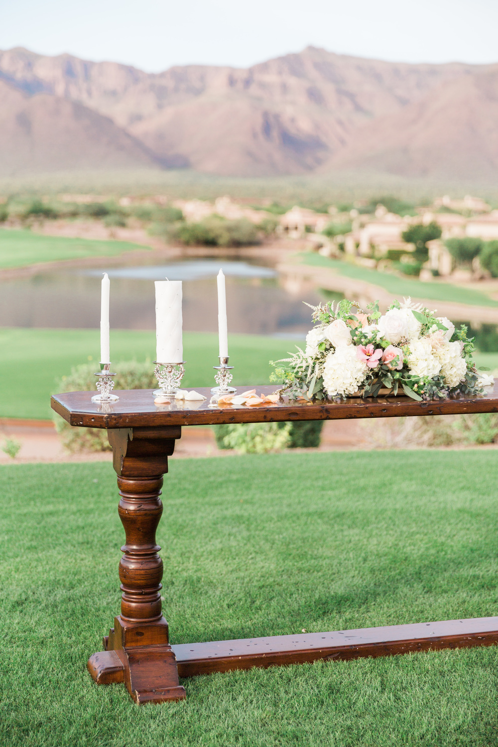 Ceremony setup Superstition Mountain Golf Club Wedding | Phoenix Wedding Photographers | See more at BetsyandJohn.com