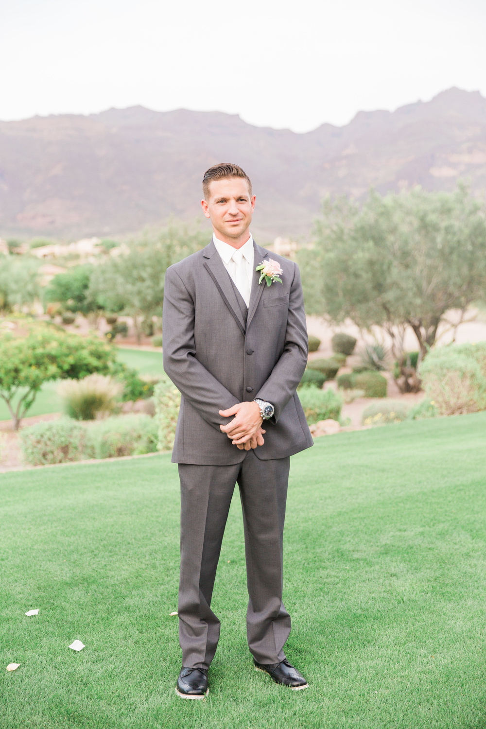 Ceremony at Superstition Mountain Golf Club Wedding | Phoenix Wedding Photographers | See more at BetsyandJohn.com