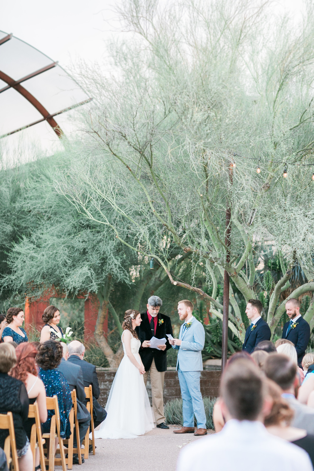 wedding at the Desert Botanical Gardens