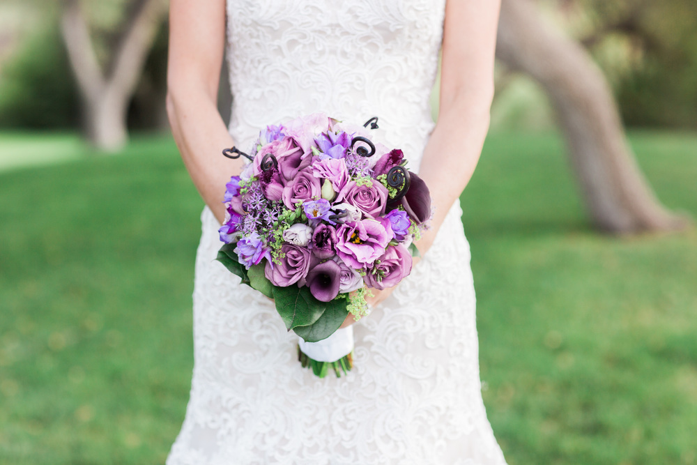 Purple Bouquet | Van Dickson Ranch Wedding | Prescott Wedding Photographers | See more at BetsyandJohn.com