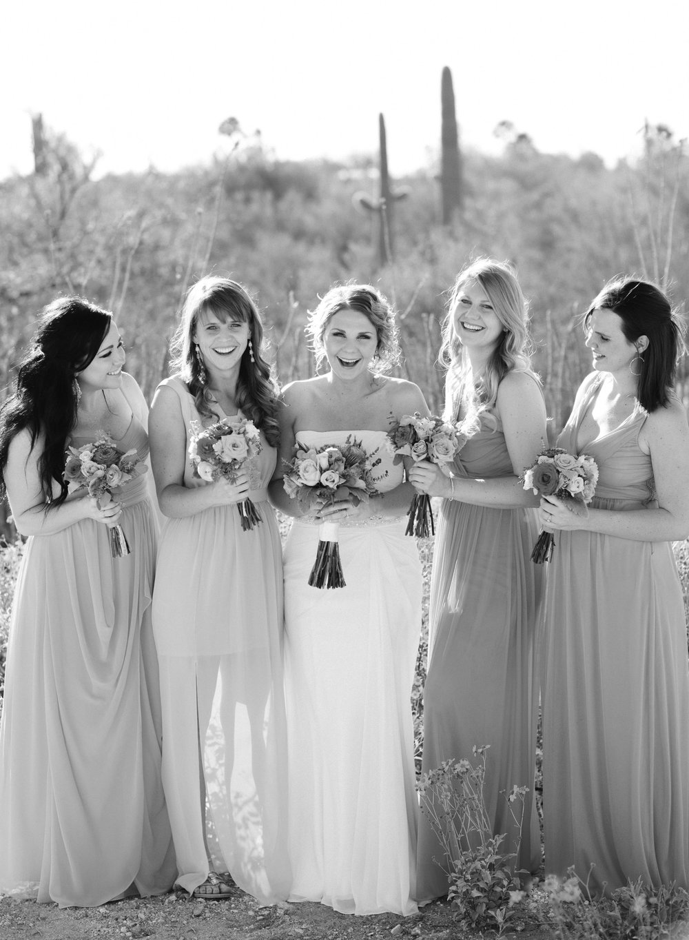 Betsy with her bridesmaids