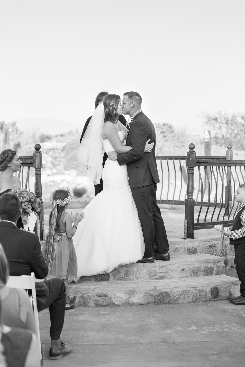 Sealed with a kiss. First kiss as husband and wife!