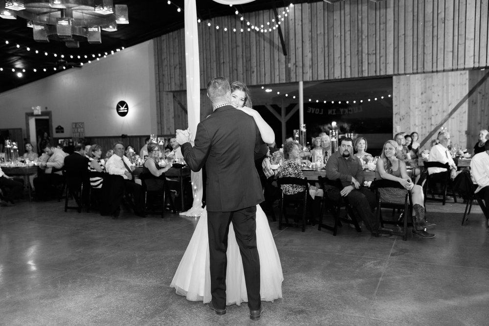 Bride and groom's first dance.