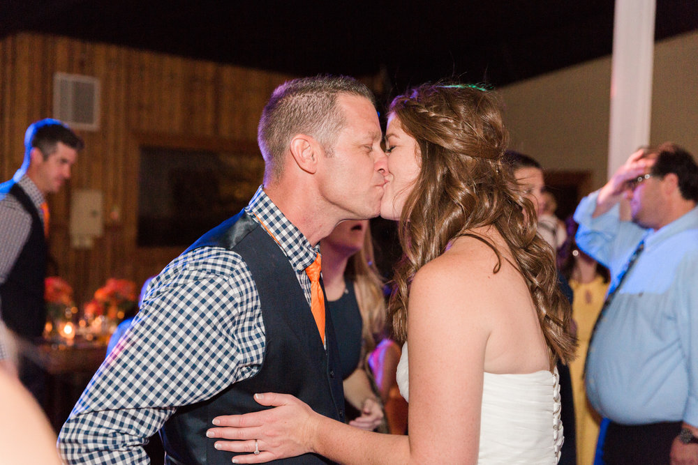 kissing at reception