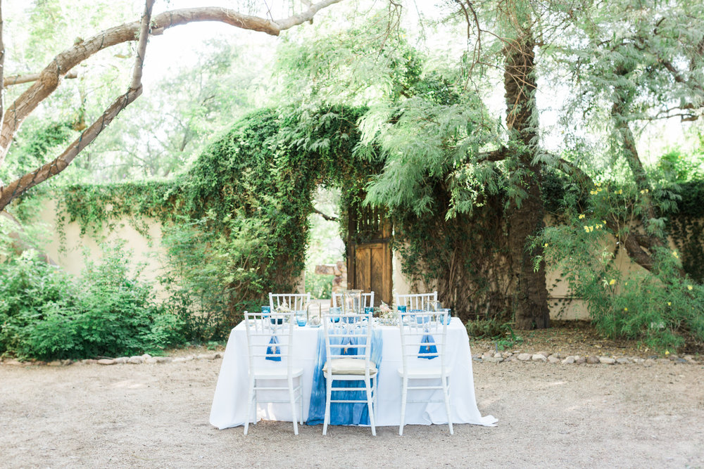 Indigo Spring wedding at Tohono Chul Gardens in Tucson, Arizona