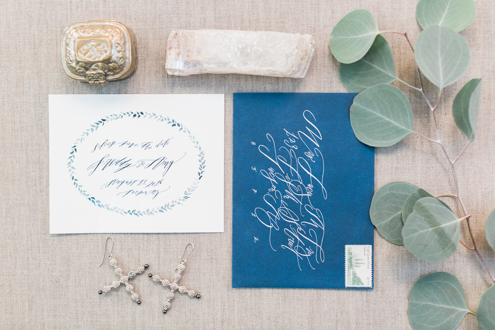 Gorgeous invitation suite by Betsy Dunlap Calligraphy