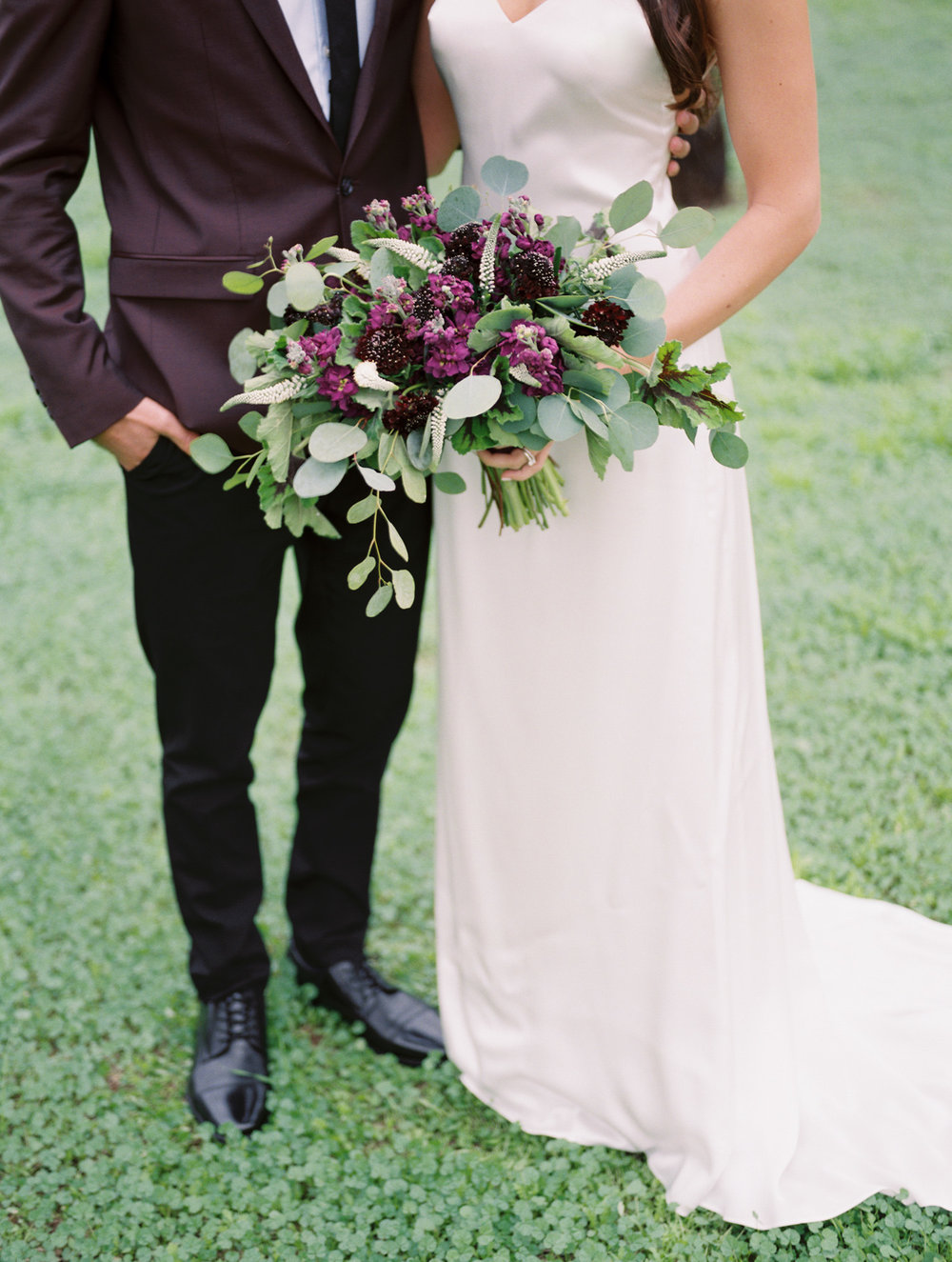 Stunning bouquet shot on film