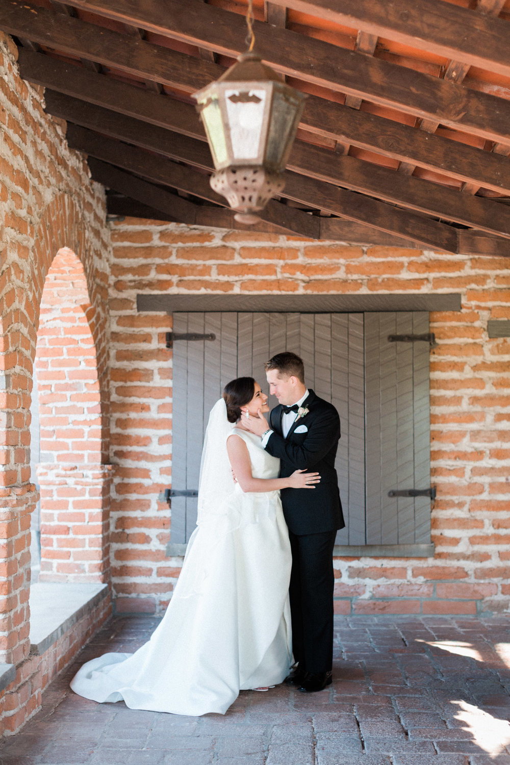 Bride and groom at Tubac Golf Resort on their wedding day