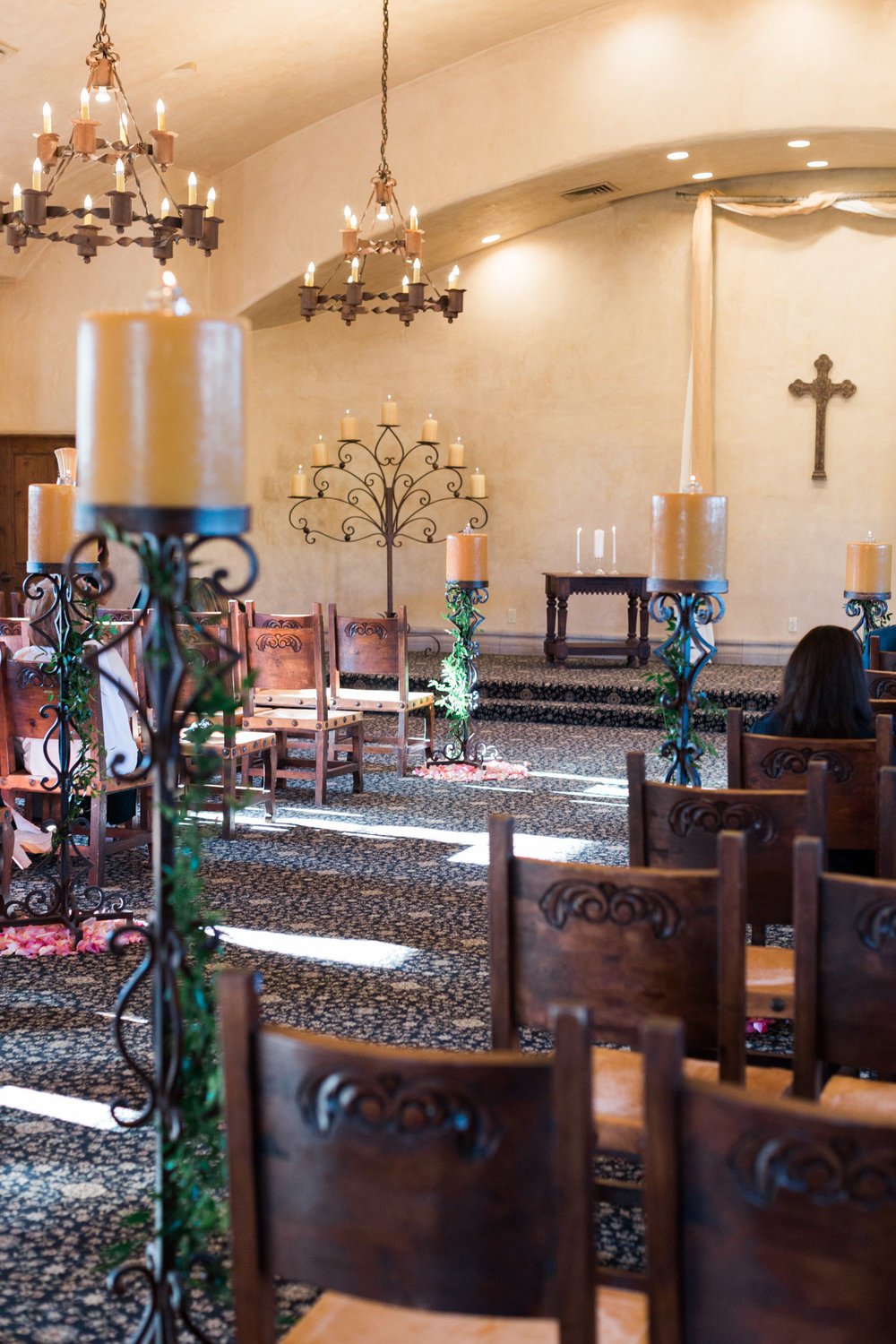 Inside the chapel at Tubac Golf resort