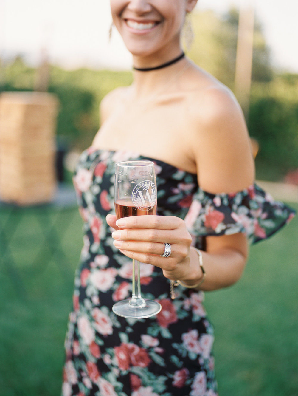 Cocktail hour at Wiens Family Cellars | Harrison & Jocelyne's gorgeous Temecula wedding day at Wiens Family Cellars captured by Temecula wedding photographers Betsy & John