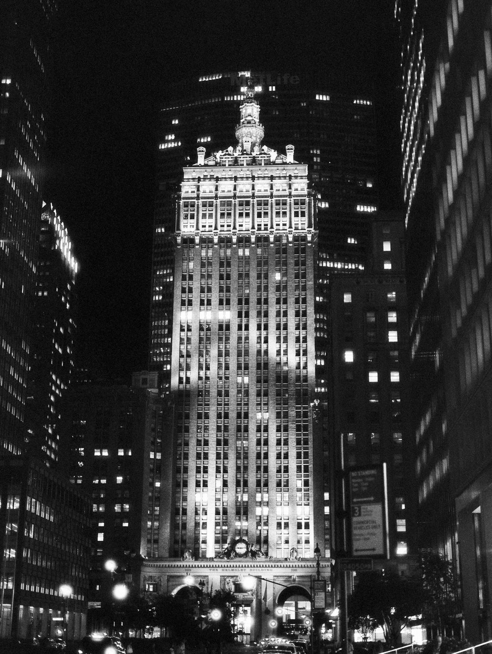 Black and white film at night. Ilford Delta 3200