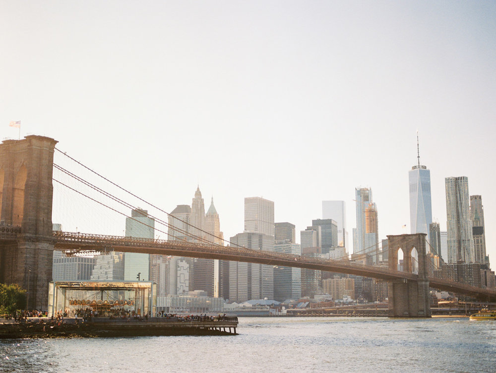 Gorgeous views of the Brooklyn Bridge and the Manhattan Skyline