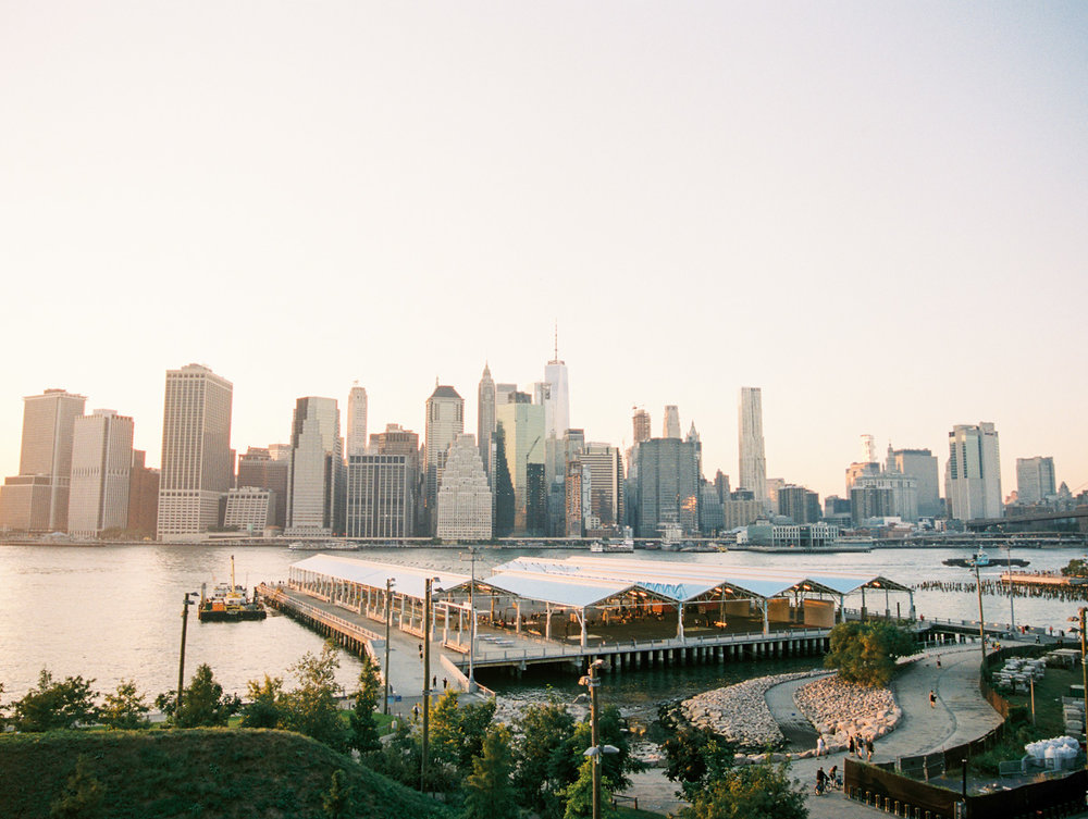 Gorgeous views of the Manhattan Skyline from the Brooklyn Promenade
