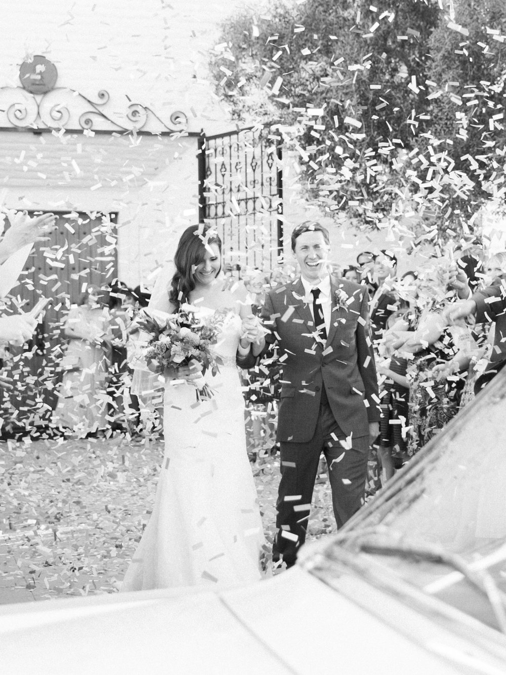 Confetti exit after ceremony