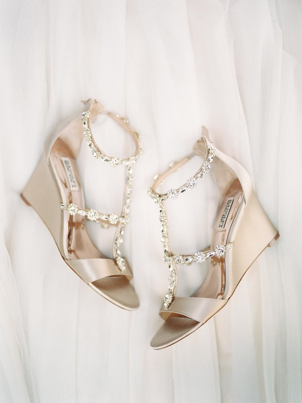 beautiful sparkly wedding day shoes by Mishcka Badgley