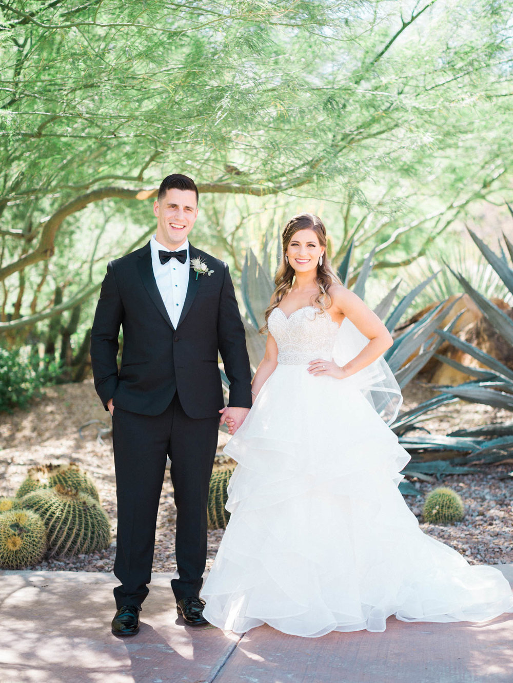 Bride & groom portrait captured by Tucson Wedding Photographers Betsy & John