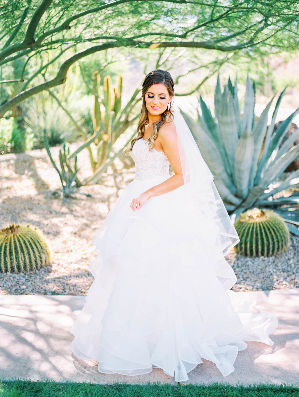 Stunning desert bride on film captured by Tucson Wedding Photographers Betsy & John