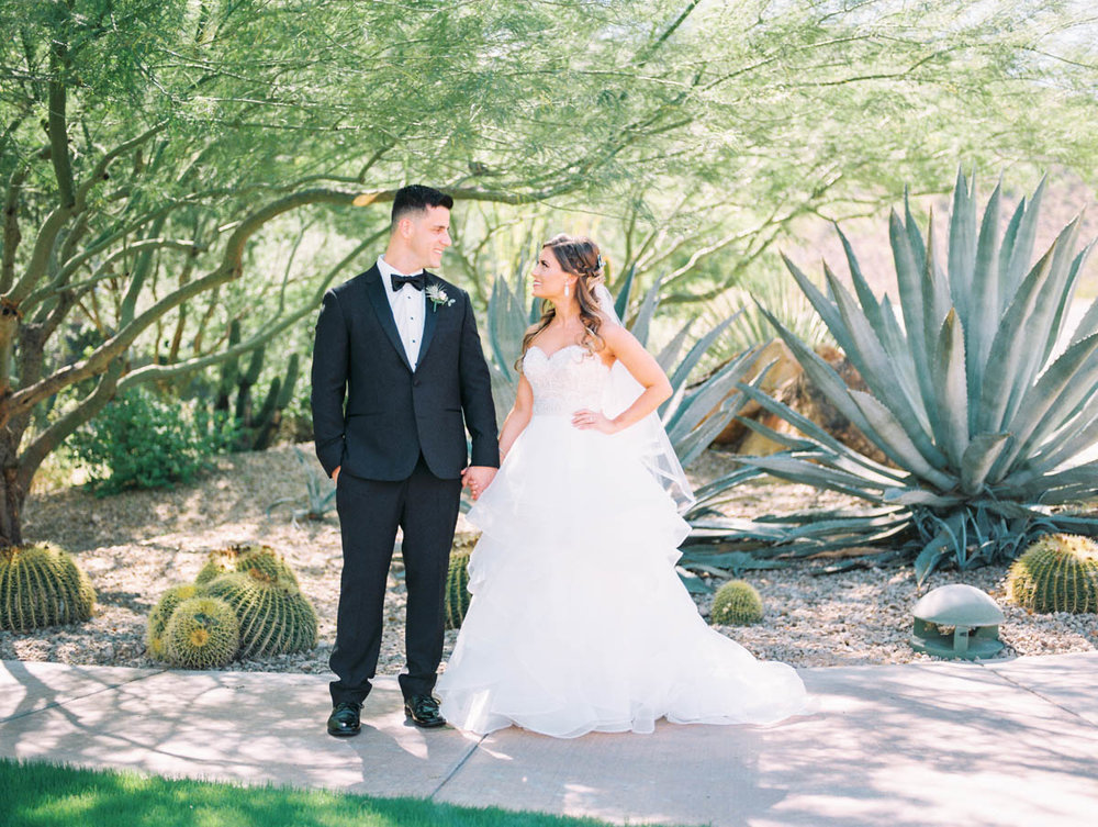 Desert Bride & groom captured by Tucson Wedding Photographers Betsy & John