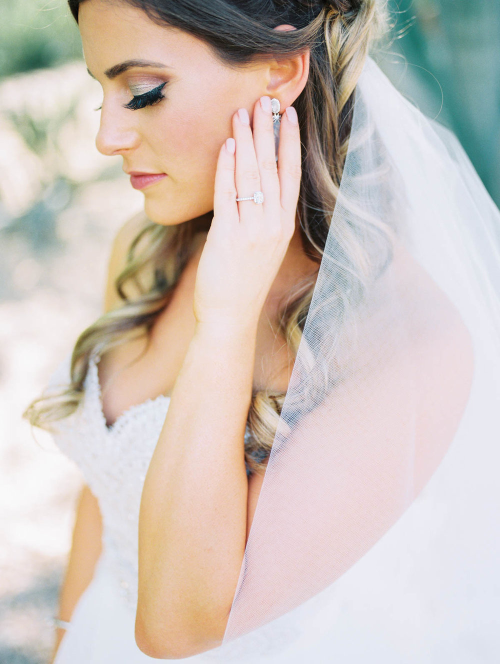 Elegant bride captured by Tucson Wedding Photographers Betsy & John