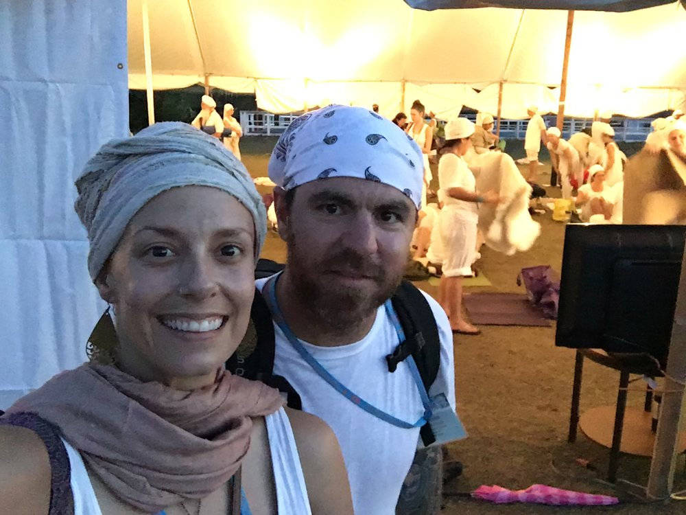 Immediately after 9 1/2 hours devoted to White Tantric yoga. Do my eyes give away the fact that I'm stoked to be done for the day?